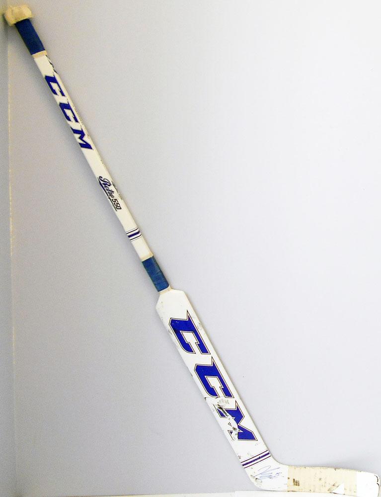 #45 Jonathan Bernier Game Used Stick - Autographed - Toronto Maple Leafs
