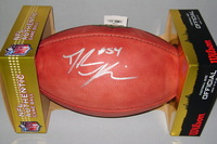 NFL - GIANTS DALVIN TOMLINSON SIGNED AUTHENTIC FOOTBALL