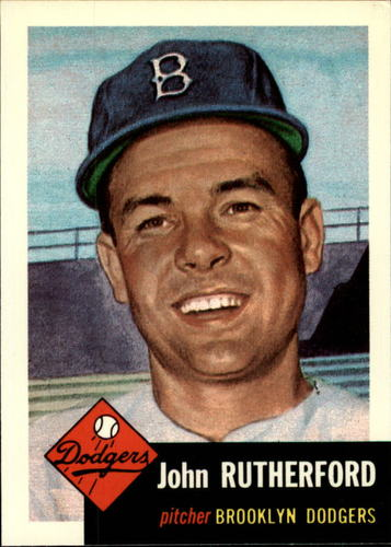 Photo of 1991 Topps Archives 1953 #137 John Rutherford
