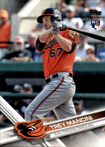 Photo of 2017 Topps #536A Trey Mancini Rookie Card