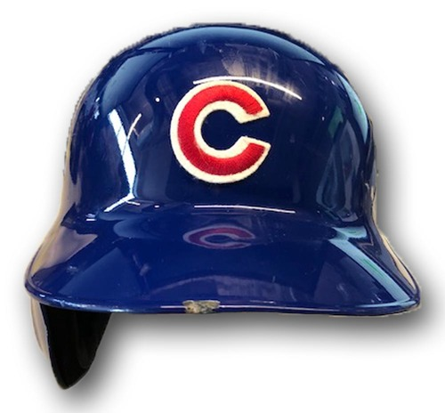 Photo of Anthony Rizzo Team-Issued Cracked Batting Helmet -- Size 7 3/8
