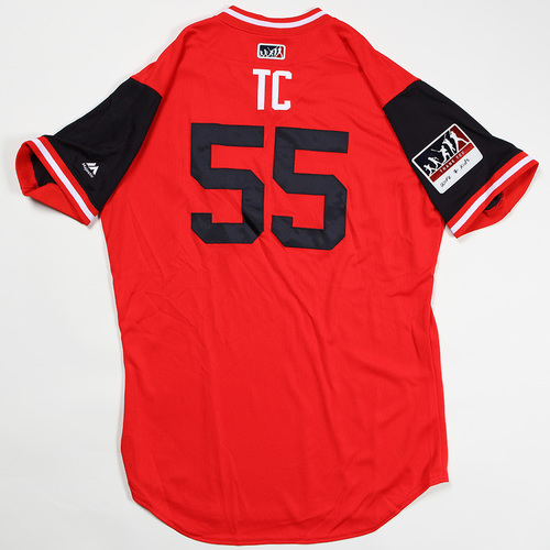 """Photo of Tim """"TC"""" Collins Washington Nationals Game-Used Jersey 2018 Players' Weekend Jersey"""