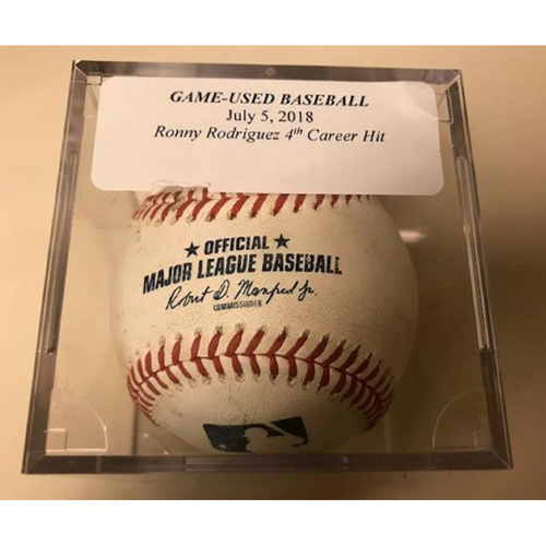Photo of Game-Used Baseball: Ronny Rodriguez 4th Career Hit
