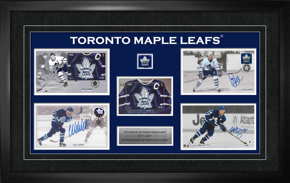 Doug Gilmour/Wendel Clark/Rielly,M Multi-Signed Canada Post Collage Leafs LE 500