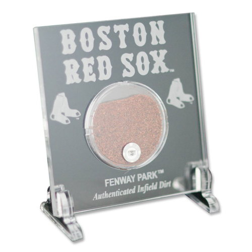 "Photo of Boston Red Sox Game-Used Dirt 3""x3"" Desktop Acrylic"