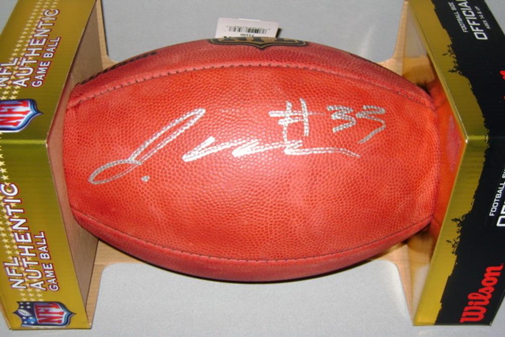 NFL - JETS JAMAL ADAMS SIGNED AUTHENTIC FOOTBALL