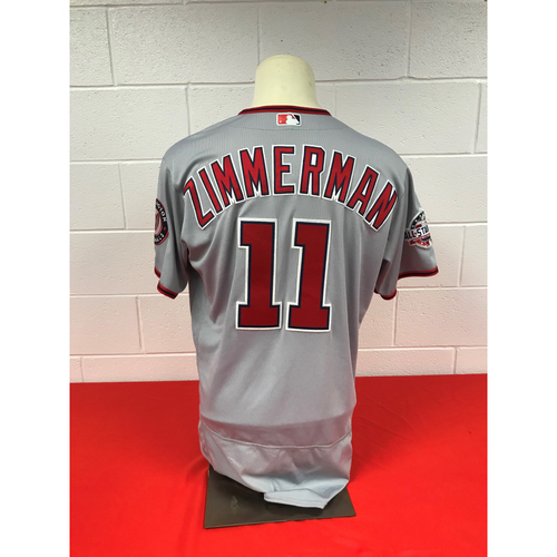 Photo of Ryan Zimmerman Game-Used Washington Nationals 2018 Road Grey Jersey with All Star Game Patch