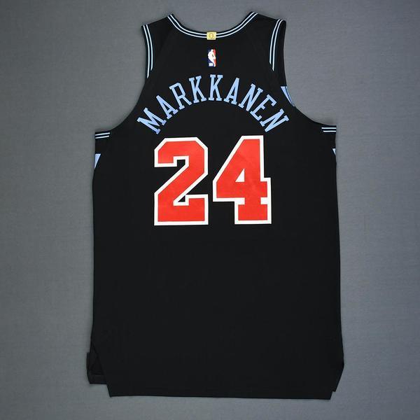 Lauri Markkanen - Chicago Bulls - Game-Worn City Edition ...