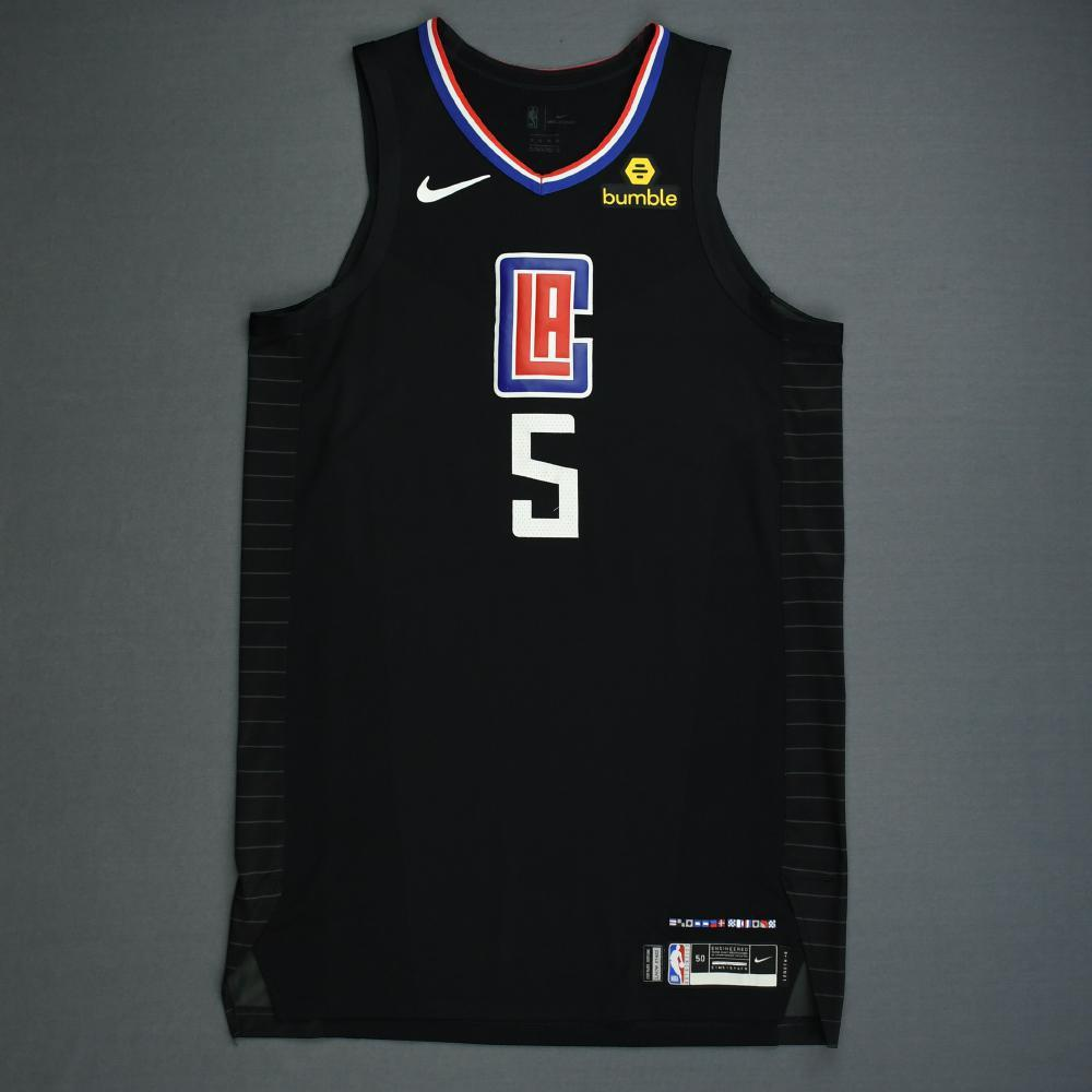 Montrezl Harrell - Los Angeles Clippers - 2019 NBA Playoffs - Game-Worn Black Statement Edition Jersey