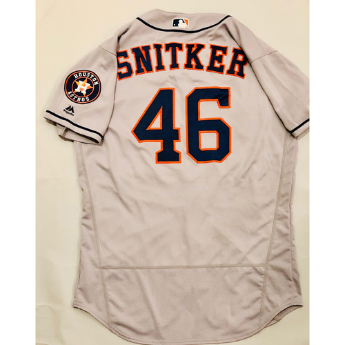 Photo of 2019 Mexico Series - Game-Used Jersey - Troy Snitker, Houston Astros at Los Angeles Angels - 5/4/19