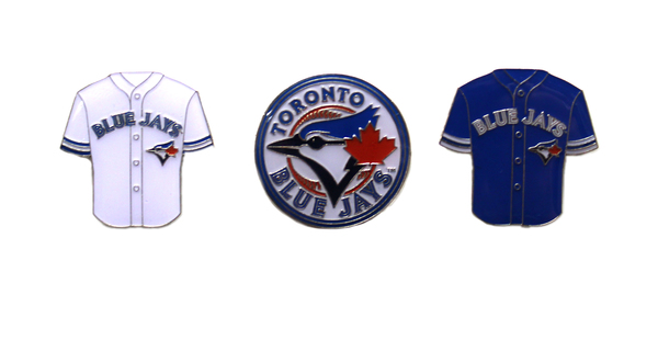 Toronto Blue Jays Primary Logo and Jersey Lapel Pin Set by PSG