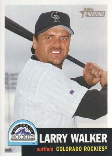 Photo of 2002 Topps Heritage #19 Larry Walker