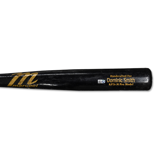 Photo of Dominic Smith #22 - Team Issued Cracked Bat - Black Marucci Model - 2019 Season