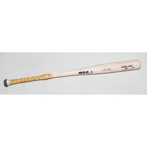 Photo of Wil Myers Autographed Game Used Bat