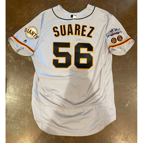 Photo of 2016 Postseason Game Used Road Jersey worn by #56 Albert Suarez - Size 48