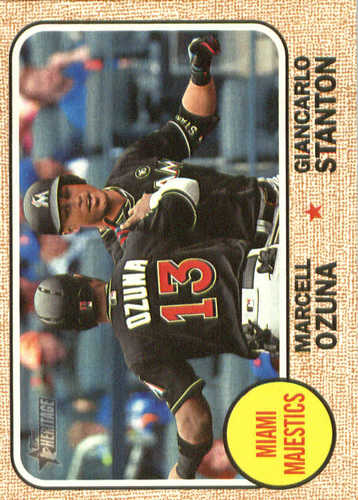 Photo of 2017 Topps Heritage Combo Cards #CC4 Giancarlo Stanton/Marcell Ozuna