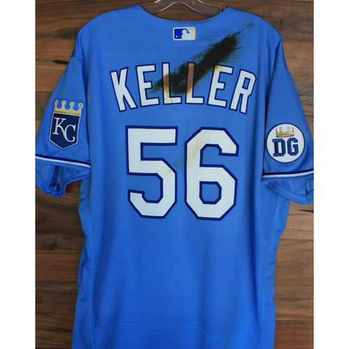 Photo of Alex's Lemonade Stand Foundation: Game-Used Brad Keller Jersey (Size 50 - 9/26/20 DET @ KC)