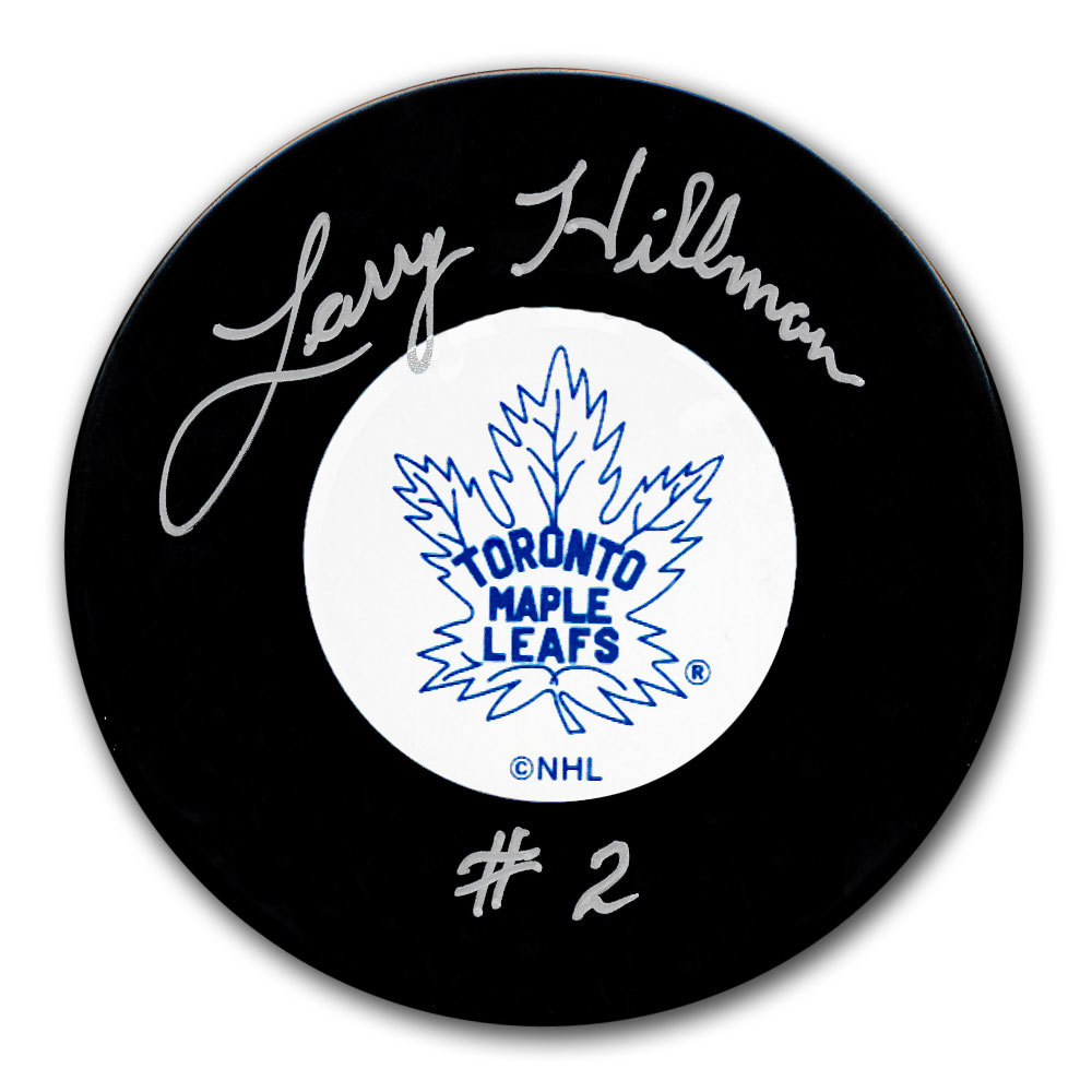 Larry Hillman Toronto Maple Leafs Original 6 Autographed Puck