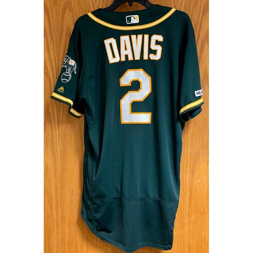 Photo of Game-Used Jersey - Khris Davis HR (20) 9/10/19 & 9/13/19 HR (21 & 22)