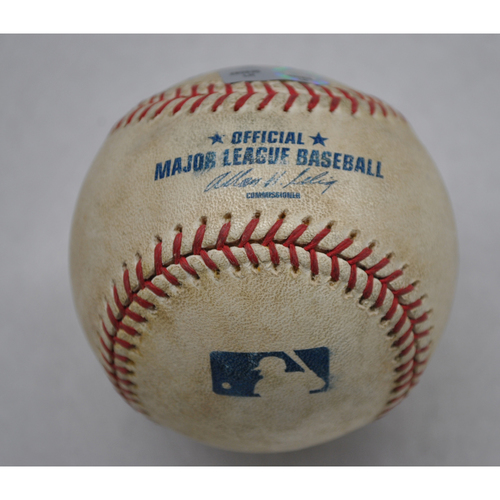 Photo of Game-Used Baseball - WSH at FL - 4/6/09 - 2009 MLB Opening Day