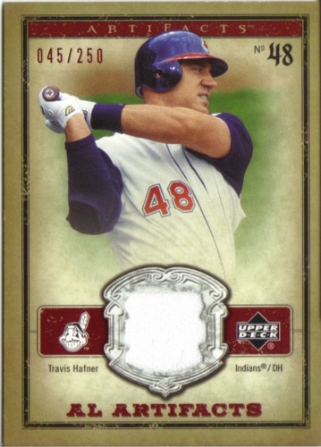 Photo of 2006 Artifacts AL/NL Artifacts Red #THA Travis Hafner Jsy/250
