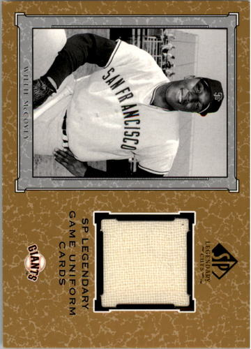 Photo of 2001 SP Legendary Cuts Game Jersey #JWM Willie McCovey Uniform relic card