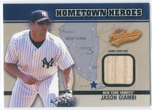 Photo of 2003 Fleer Authentix Hometown Heroes Memorabilia #JG Jason Giambi Bat SP/300