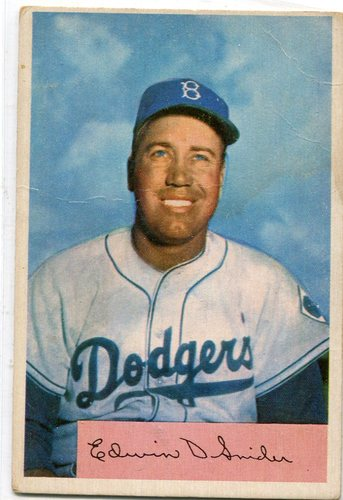 Photo of 1954 Bowman #170 Duke Snider -- Hall of Famer