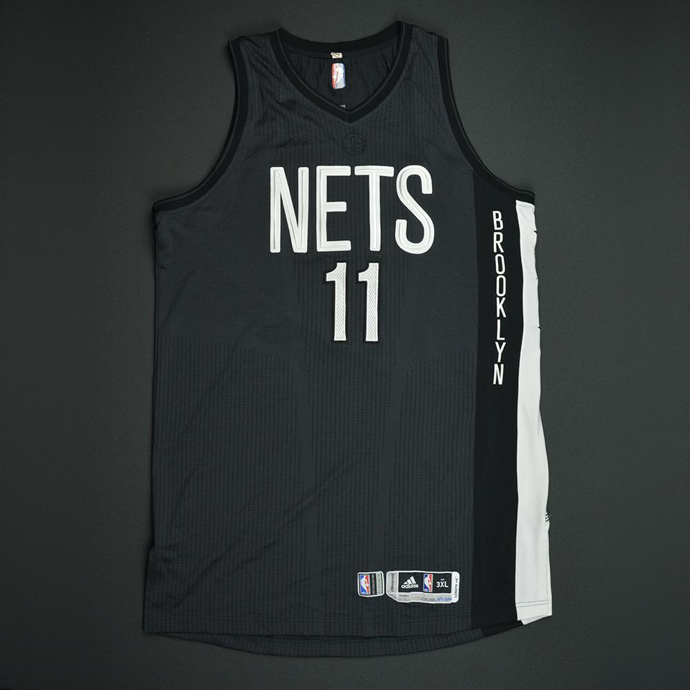 pretty nice db3bc 7bcff Brook Lopez - Brooklyn Nets - Game-Worn Black Alternate ...