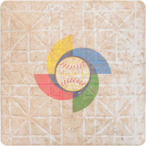 Photo of 2013 WBC: Round 2 - United States vs. Dominican Republic Game-Used 1st Base