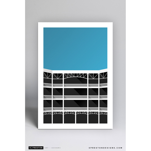 Photo of Globe Life Field - Minimalist Ballpark Art Print by S. Preston  - Texas Rangers