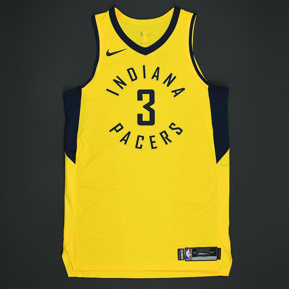 Joe Young - Indiana Pacers - Statement Game-Worn Jersey - 2017-18 Season