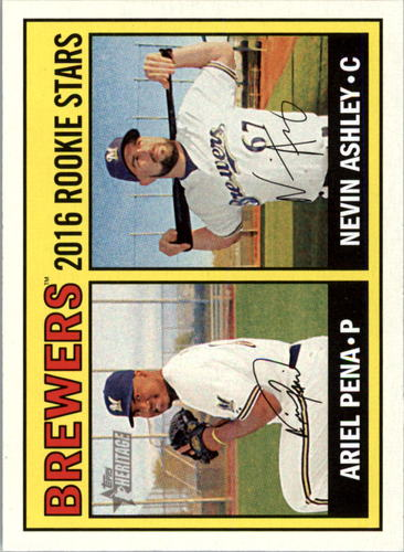 Photo of 2016 Topps Heritage #170 Ariel Pena RC/Nevin Ashley RC