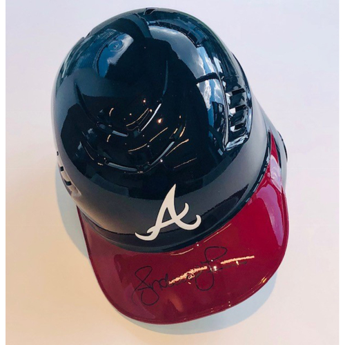 Photo of Andruw Jones Autographed Helmet