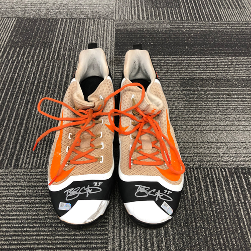 Photo of 2018 Holiday Deal! - Autographed Cleats (Player Collected) - #35 Brandon Crawford - Size 12