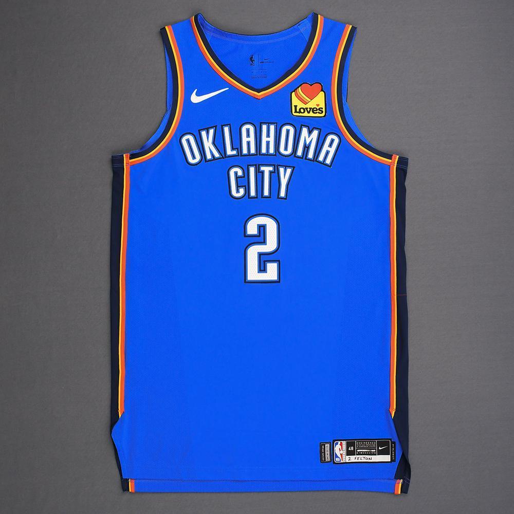 Raymond Felton - Oklahoma City Thunder - Game-Worn Icon Edition Jersey - 2019 Playoffs