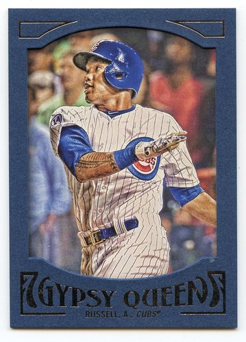 Photo of 2016 Topps Gypsy Queen Framed Blue #67 Addison Russell