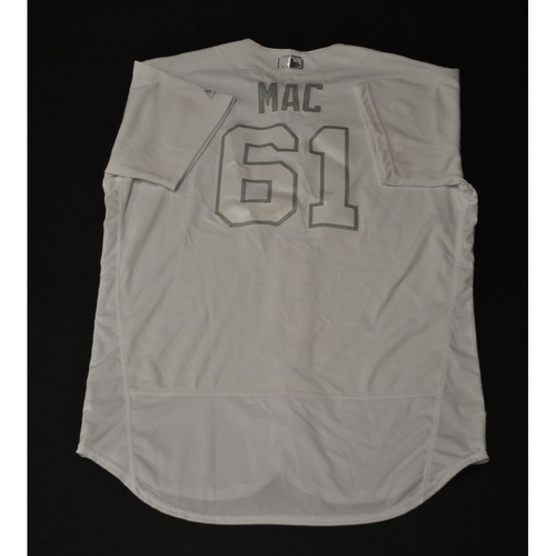 "Photo of Kevin ""MAC"" McCarthy Kansas City Royals Game-Used 2019 Players' Weekend Jersey"