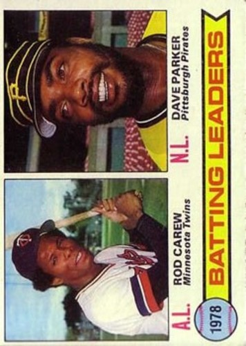 Photo of 1979 Topps #1 Batting Leaders/Rod Carew/Dave Parker