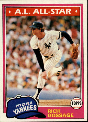 Photo of 1981 Topps #460 Rich Gossage