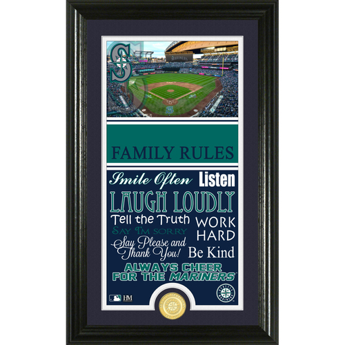 Photo of Seattle Mariners Personalized Family Rules Photo Mint