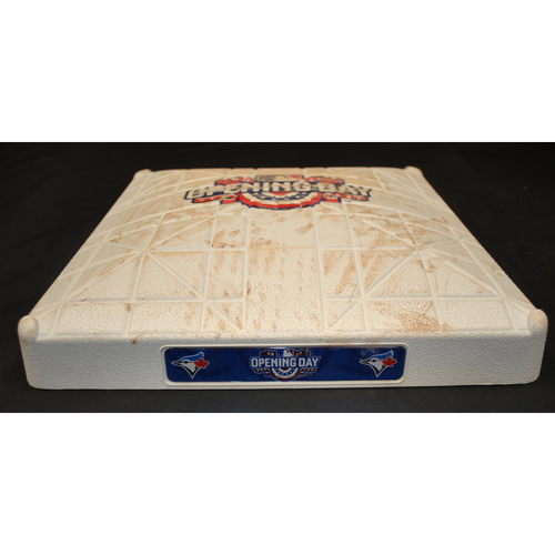 Photo of Game Used Opening Day Base - Milwaukee Brewers at Toronto Blue Jays (4/11/2017) - 3rd Base - Innings 7 - 9