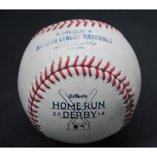 Photo of 2014 Home Run Derby (07/14/14) - Game-Used Baseball - Yoenis Cespedes - Final Round, Out #4