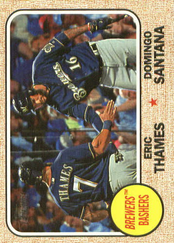 Photo of 2017 Topps Heritage Combo Cards #CC6 Domingo Santana/Eric Thames