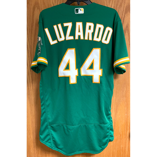 Photo of Game-Used Jersey - Jesus Luzardo; Win #1 (4/20/21; GM 2 vs. Minnesota Twins)