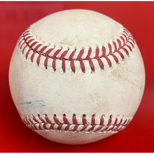 Photo of 2020 Game Used Baseball - 8/1 Dodgers at D-backs - Christian Walker Double vs. Julio Urias, Eduardo Escobar flyout to Mookie Betts