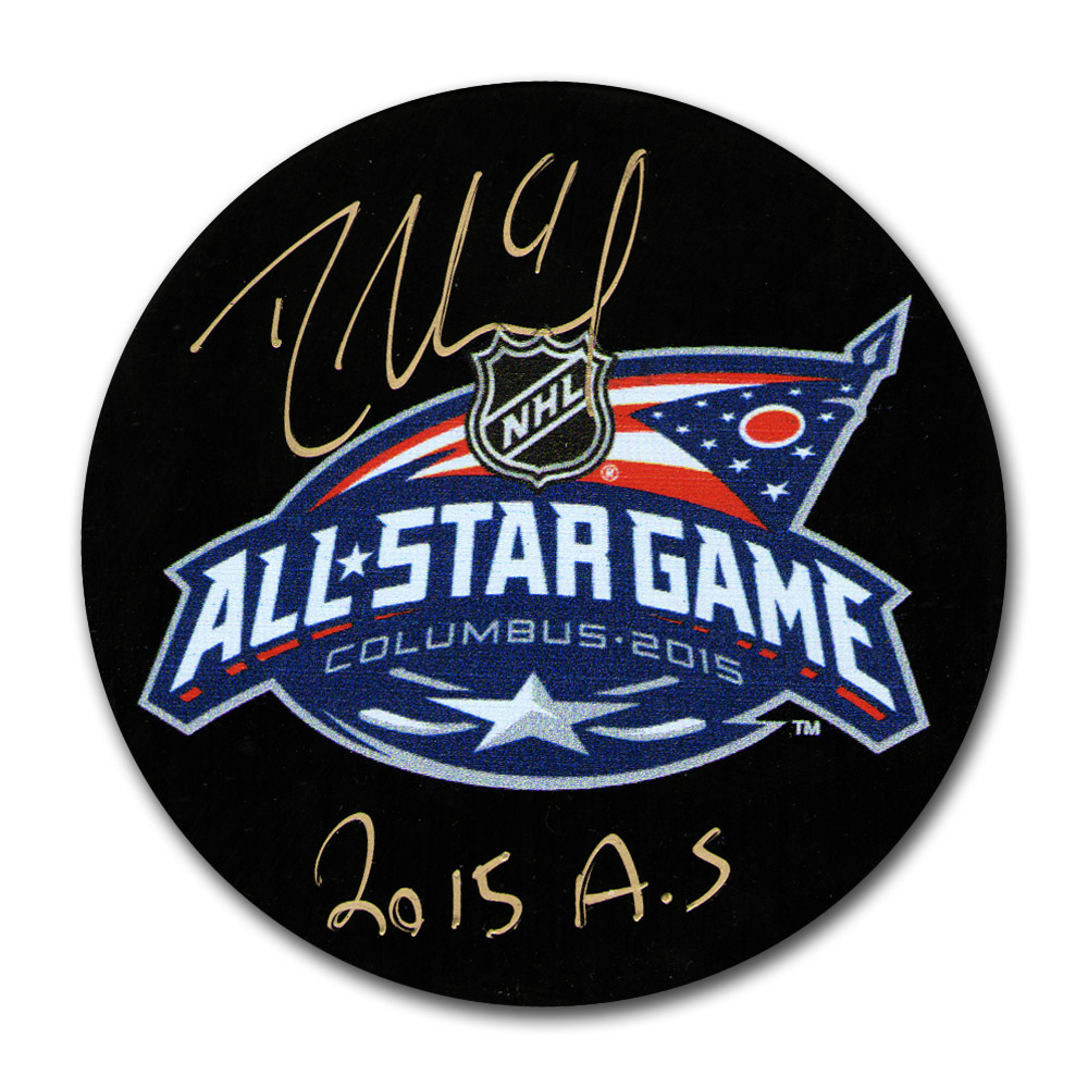 Rick Nash Autographed 2015 NHL All-Star Game Puck w/2015 AS Inscription