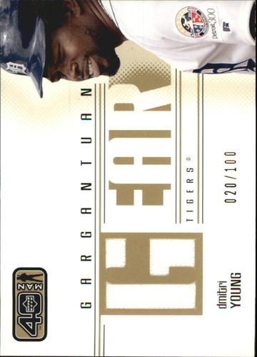 Photo of 2002 Upper Deck 40-Man Gargantuan Gear Gold #GDY Dmitri Young