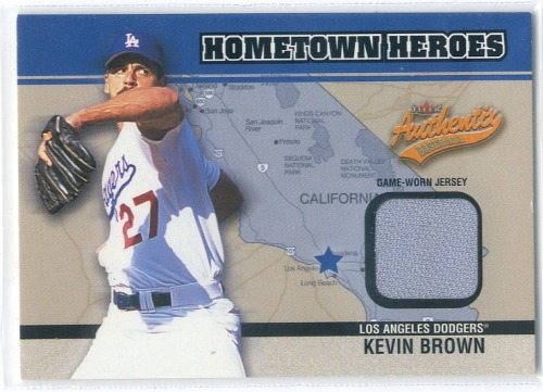 Photo of 2003 Fleer Authentix Hometown Heroes Memorabilia #KB Kevin Brown Jsy SP/150