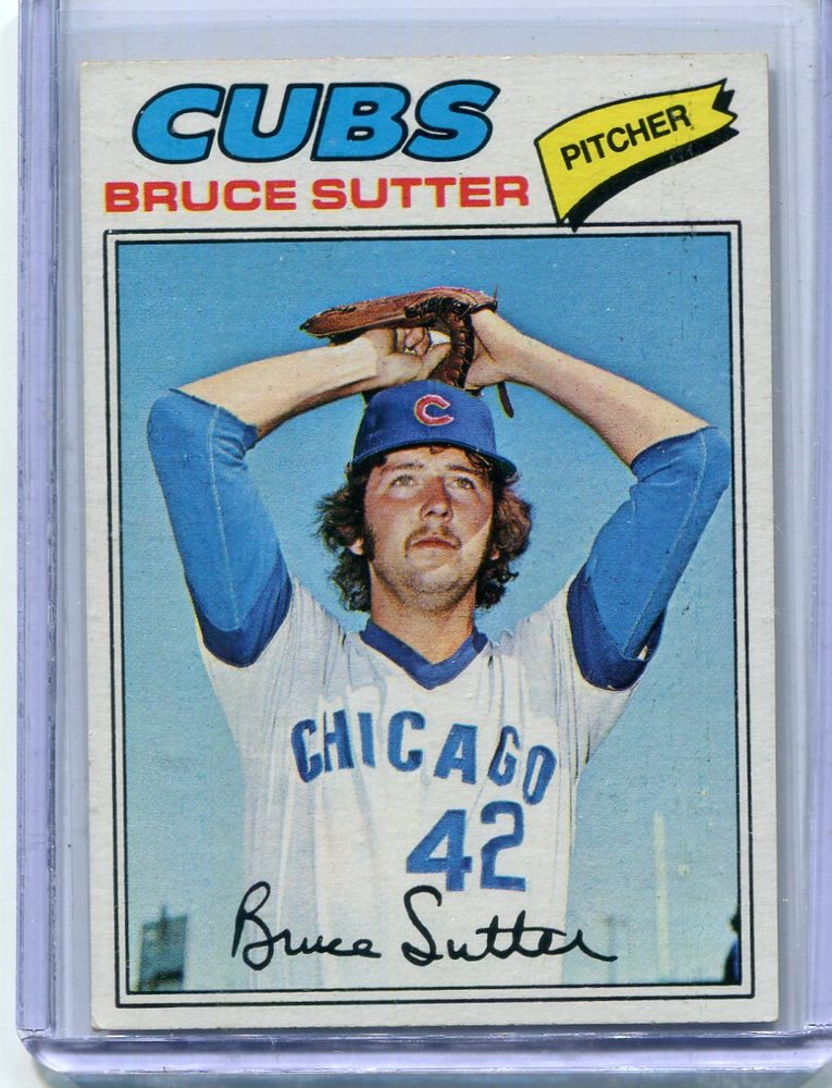 1977 Topps #144 Bruce Sutter Rookie Card -- Hall of Famer